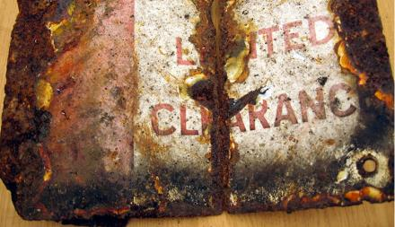 Rusted sign - LIMITED CLEARANCE