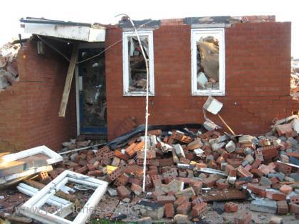 Demolished modern building