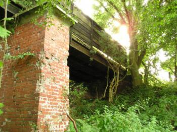 Slightly dilapidated brick bridge