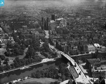 Aerial view of York, 1921