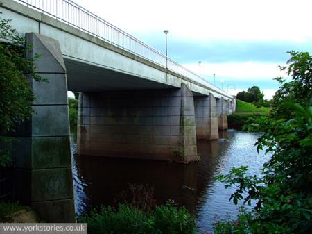Concrete bridge over river
