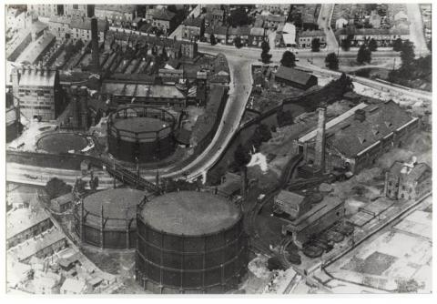 Aerial photo, gas works