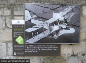 Information panel on exterior of church