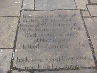 18th century inscription