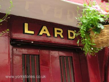 LARD lettering on shopfront