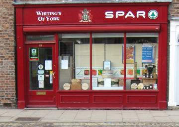 Shopfront, Whiting's of Bootham, May 2010