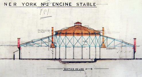 Plan/drawing of 'York Engine Stable'