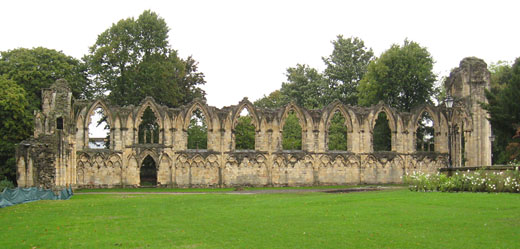 Medieval abbey ruins