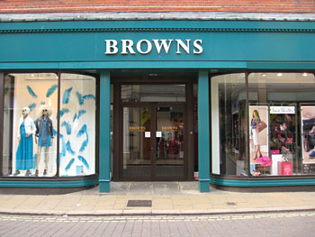 Entrance to Browns store