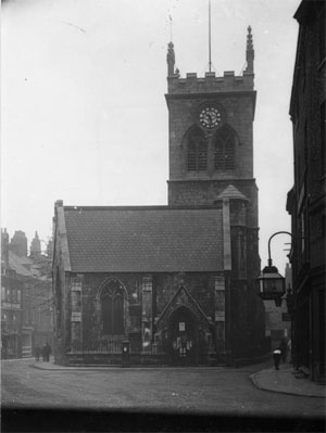 Old photo of city centre church