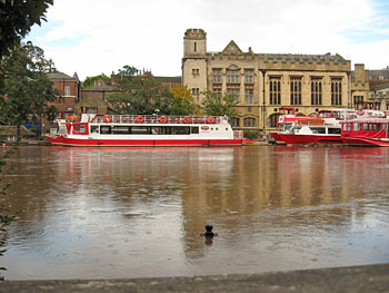 Guildhall and York Boats, from opposite river bank, floods of 26 Sept 2012 (image 2)