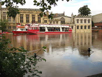 Guildhall and York Boats, from opposite river bank, 26 Sept 2012