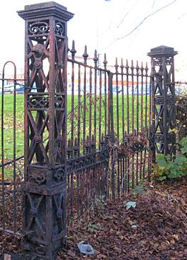 Rusting ornate ironwork