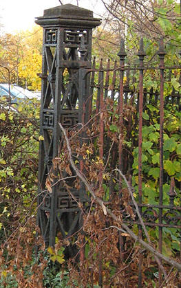 Rusting ornate ironwork