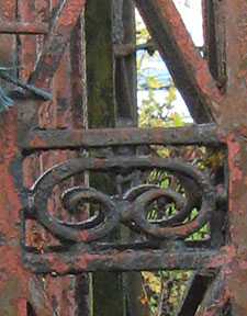 Rusted 19th century ironwork