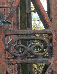 Rusted 19th century ironwork