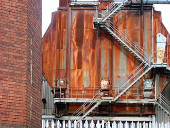 Red brick and rusted metal - industrial scene