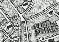 Old map, York