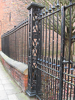 19th century black-painted railings and gate