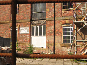 Bonding Warehouse, with sign for H Watson, builders, June 2011