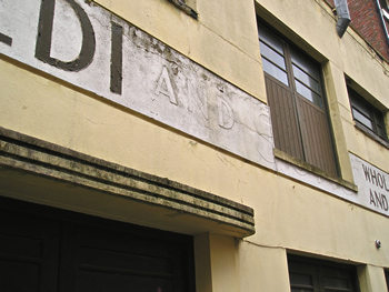 Capaldi building, 2007 – lettering faded/obscured