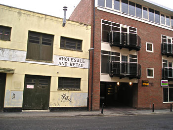 Capaldi premises, Fetter Lane, 2007, with new flats alongside