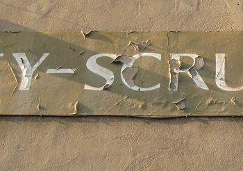 Detail of lettering