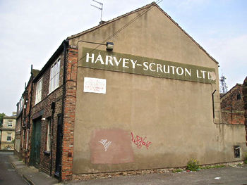 Lettering for Harvey-Scruton Ltd, in 2004