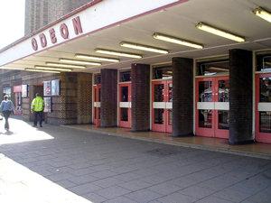 Odeon cinema, front doors