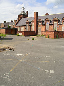 Now empty – Shipton Street School buildings and playground