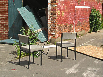 Chairs, school playground