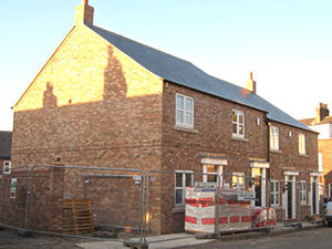 New housing on the site of the old St Barnabas School