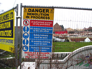 Burton Croft demolition site – 1