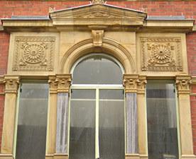 Foss Bridge House, detail of first floor window