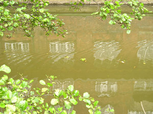 River Foss reflecting Rowntree Wharf