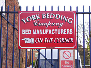 York Bedding Company sign