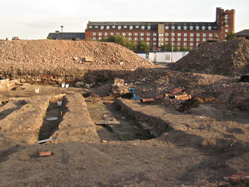 Rowntree Wharf over Hungate building site