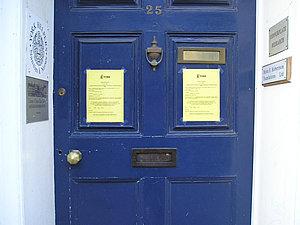 Front door, 25 Bootham, 2004