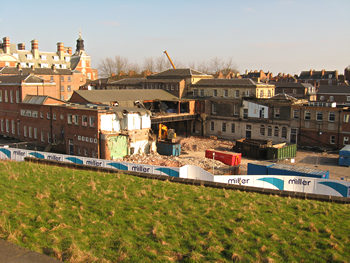 West Offices site from city walls, March 2011
