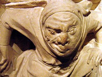Medieval carving – detail