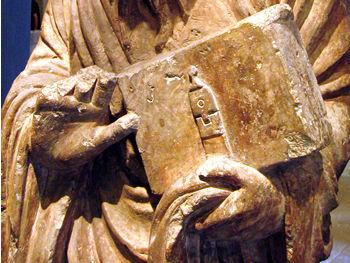 Yorkshire Museum – apostle sculpture, c1200