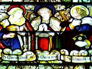 East window, by Kempe