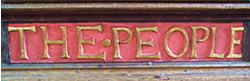 Pulpit inscription 3 – '...the people . ..'