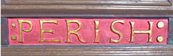 Pulpit inscription 4 – ' ... perish ...'