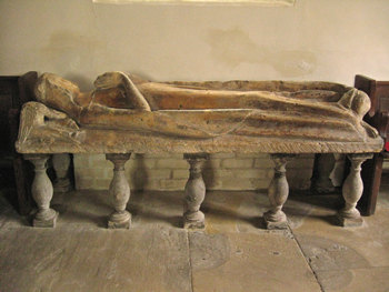 Alne church – memorial effigy