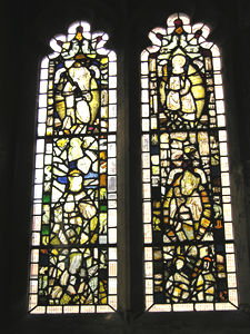 Stained glass window, Holy Trinity