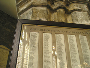 Roll of Honour, Holy Trinity