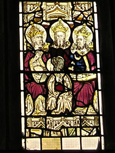 Detail from east window, Holy Trinity