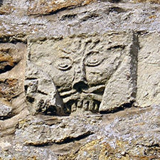 Nunburnholme church – detail from exterior wall