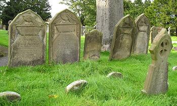 Headstones, Rudston churchyard